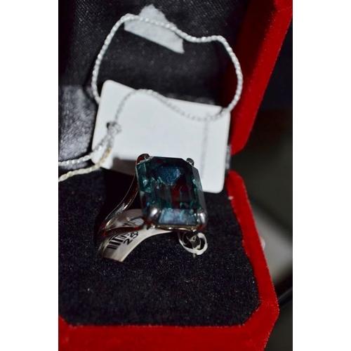 12 - Large Blue Stone Ring...
