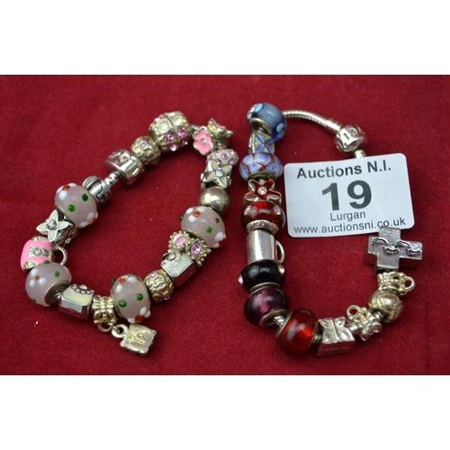 19 - Charm Bracelet x 2...