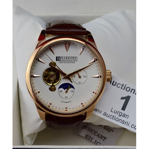 1 - Barkers of Kensington Automatic Rose Watch - New...