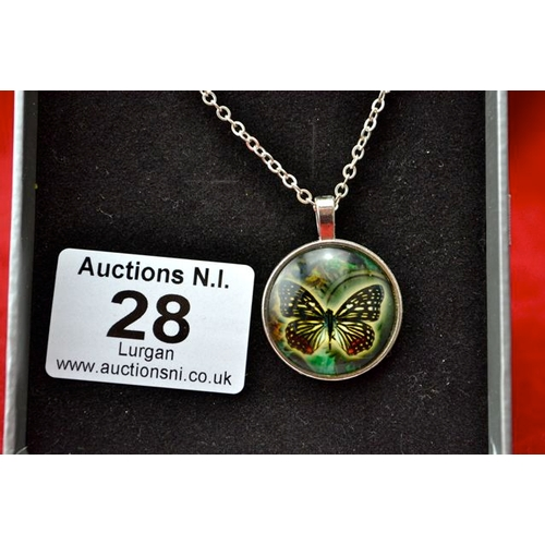 28 - Butterfly Pendant Necklace...