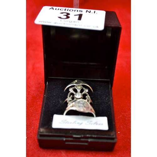 31 - Silver Ring x 3...