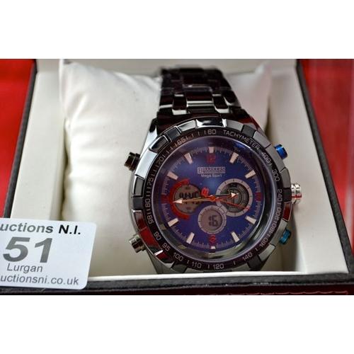 51 - Barkers of Kensington Mega Sport Blue Watch - New...