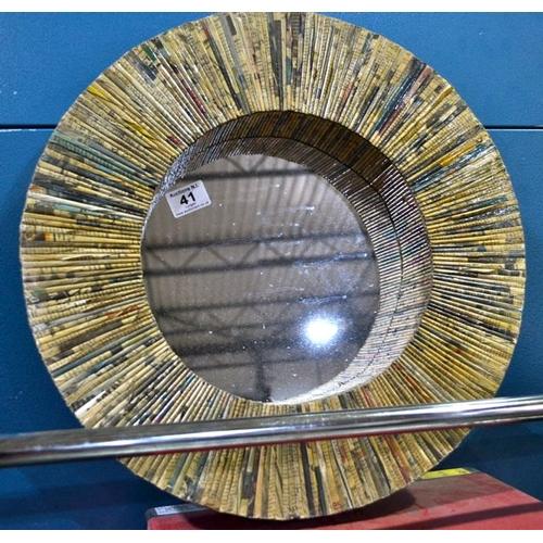 41 - Hand Crafted Circular Mirror...