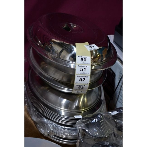 51 - Stainless Steel Lidded Dish x 10...