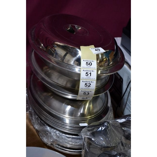 52 - Stainless Steel Lidded Dish x 10...