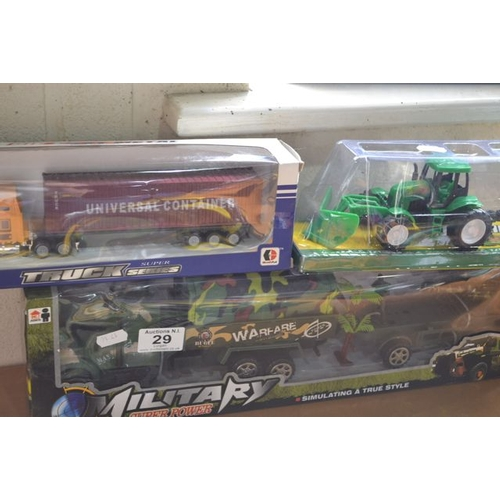 29 - Military Truck + Tractor + Lorry...