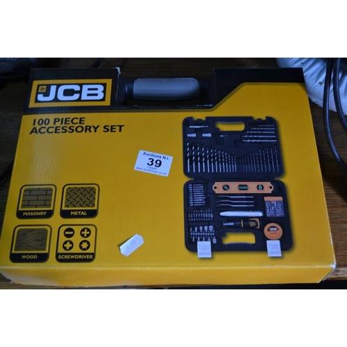 39 - JCB 100 Piece Accessory Set...