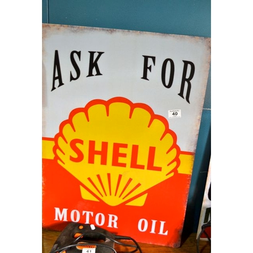 40 - Large Metal Shell Ad...