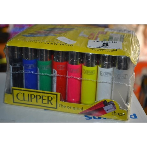 5 - Pack of 40 Clipper Lighters...