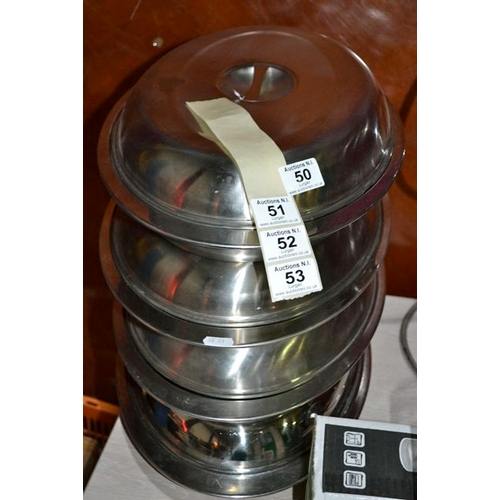 50 - Lot of 10 Stainless Steel Serving Dishes...
