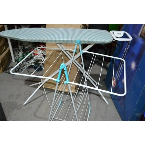 57 - Ironing Board + Clothes Horse...