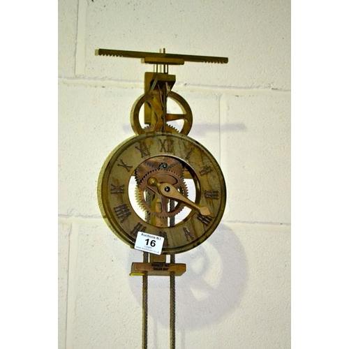 16 - Unusual Wooden Clock...