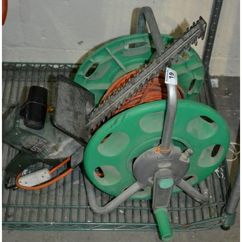 19 - Hedge Trimmer on Extension Reel - As Seen...