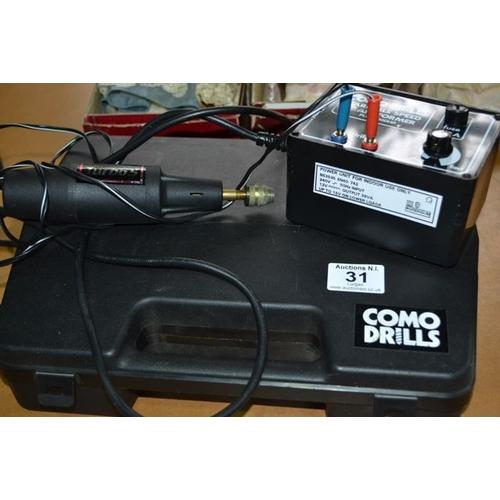 31 - Como Drills Variable Speed Transformer...