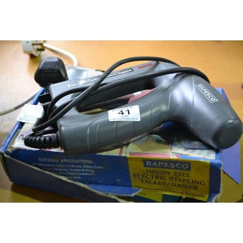 41 - Rapesco Electric Stapling Tacker/Nailer...