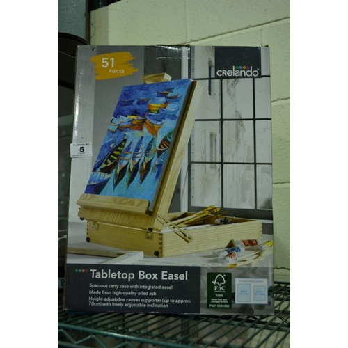 5 - Tabletop Box Easel...