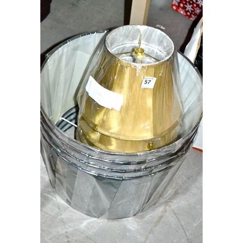 57 - New Lamp Shade x 8...