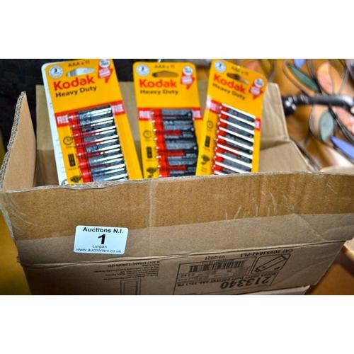 2 - Box of Kodak Heavy Duty AAA Batteries...