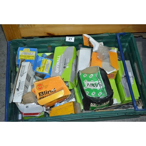 21 - Large Crate of Nails etc...