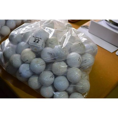 22 - Bag of Appx 100 Golf Balls...