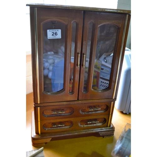 26 - Tall Jewellery Box...