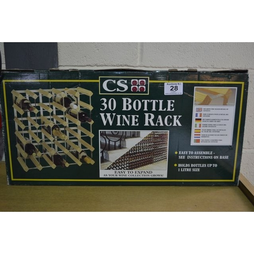 28 - 30 Bottle Wine Rack...