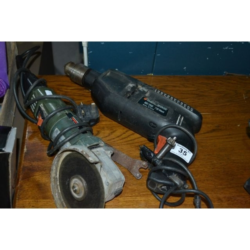 35 - Black & Decker Drill + Proline Grinder...