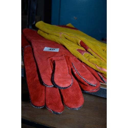 40 - 2x Pair of New Welding Gloves...
