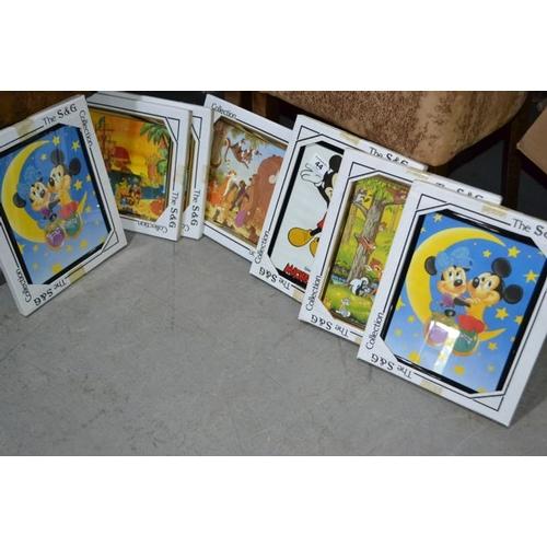 44 - Framed Disney Print x 7...