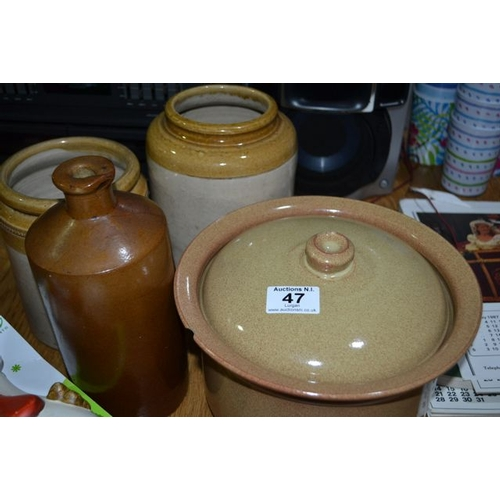 47 - Earthenware Collection...