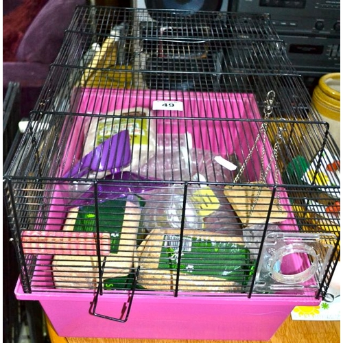 49 - Hamster Cage Full of Accessories...