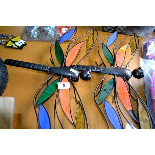 5 - Dragonfly Wall Art x 2...