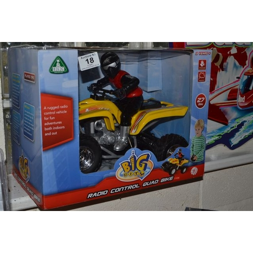 18 - ELC Radio Control Quad Bike...