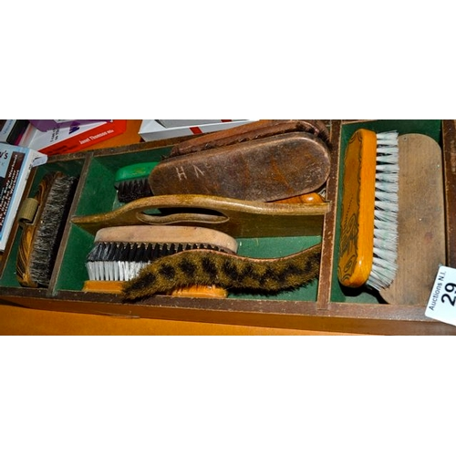 29 - Vintage Caddy with Clothes Brushes...