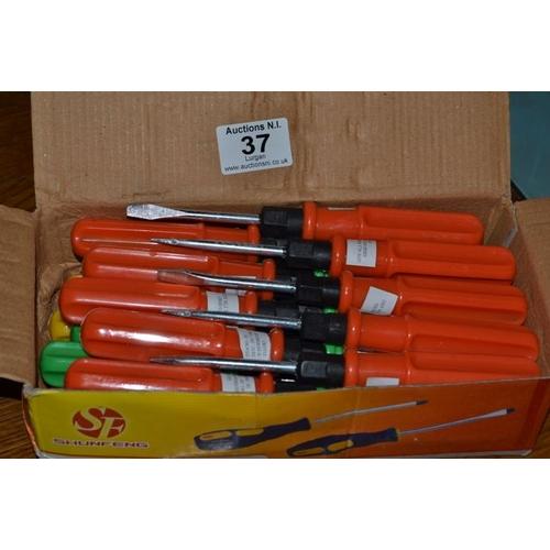 37 - Box of New Screwdrivers...