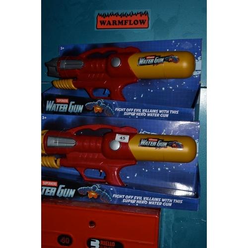 45 - Superhero Water Gun x 3 - New...