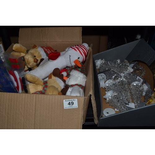 49 - Box of New Christmas Decorations x 2...