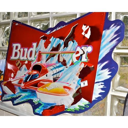 6 - Metal Budweiser Ad...