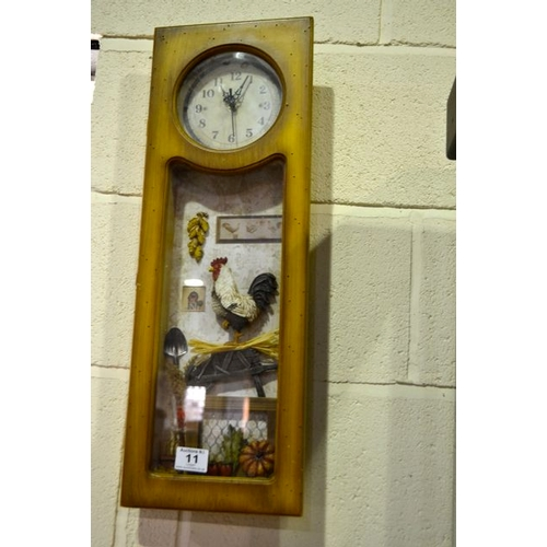 11 - Pine Country Kitchen 3D Scene Clock...