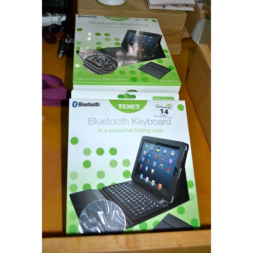 14 - 5x Texet Bluetooth Keyboard in Protective Folding Case - New...