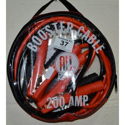 37 - Booster Cable 200Amp in Case...