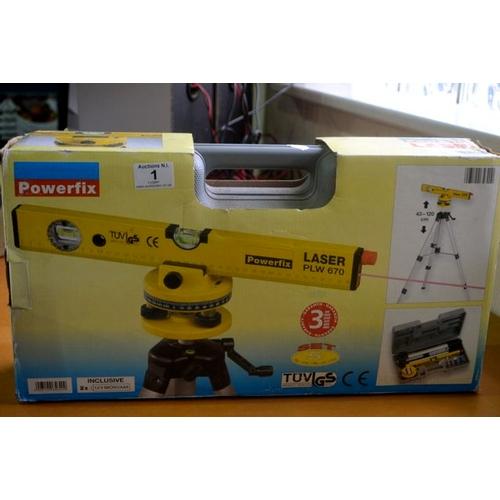 1 - Powerfix Laser Level in Case...