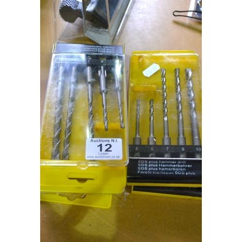 12 - 5x SDS Plus Hammer Drill Bit...