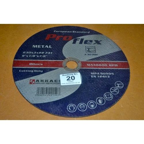 20 - Metal Cutting Disc...