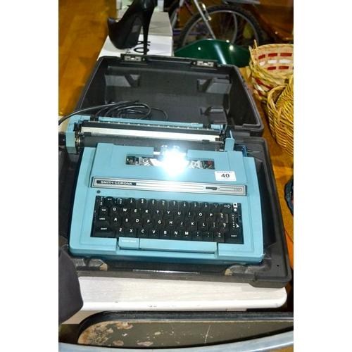 40 - Smith-Corona Electric Typewriter...