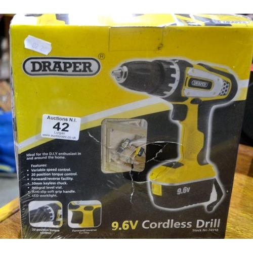 42 - Draper 9.6v Cordless Drill...