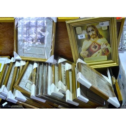 49 - 17x Framed Religious Print...