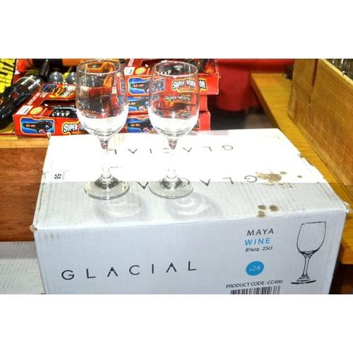 58 - Box of 24 Maya 25cl Wine Glass...