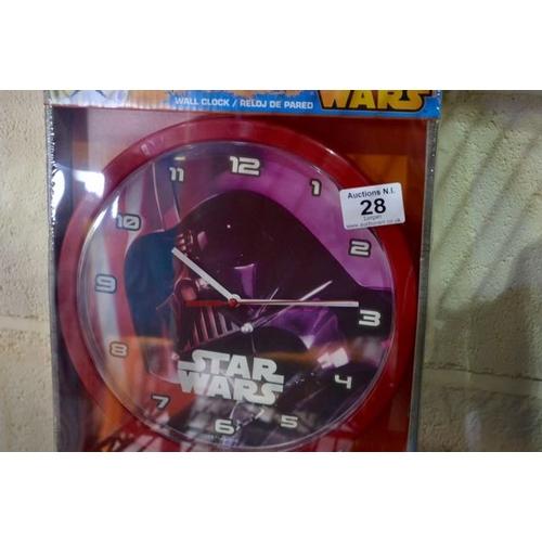 28 - New Star Wars Clock...
