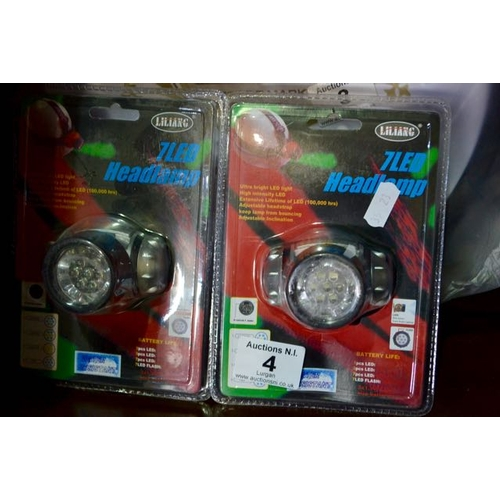 4 - Pair of LED Head Torches...